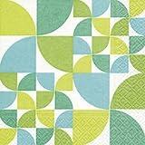 Servilletas (2 Juegos / 40 uds) 3 capas 33x33 cm Muestra Verano (Bauhaus pattern)