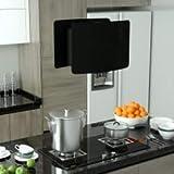 vidaXL Campana Extractora de Cocina Máquina de Purificar Limpiar el Aire de Cocina Viento Fuerte Colgante Táctil LCD Vidrio Templado Negro