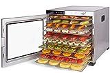 VITA5 Deshidratador Alimentos Acero Inoxidable • Temporizador 24 Horas • Temperatura: 35 a 75ºC + Extra: 1x Malla Fina y 1x Bandeja Antigoteo Nobel Pro (10 Bandejas)