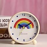 Despertador Despertar relojes despertador cabecera pequeños adornos lindo creativo doze nemesis cama arco iris