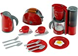 Theo Klein 9564 Set de desayuno Bosch, Set de cocina formado por tostadora, cafetera, hervidor de agua y mucho más, Medidas del embalaje: 44.5 cm x 13 cm x 34 cm, Juguete para niños a partir de 3 años