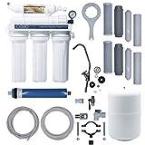 iFONT Equipo de Ósmosis Inversa Domestica iOSMO | Ósmosis Inversa 5 Etapas + 2 Recambio Filtros | Filtros y Membrana Universales | Diseño Exclusivo (Fabricante: Hidro-Water S.L)