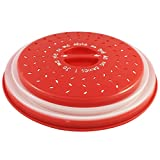 Colonel cook-Campana de cocina para microondas-sin BPA-✮✮GARANTÍA DE POR VIDA✮✮-envase para micro-ondas 3 en 1-Campana para microondas retráctil, anti-vapor con función colador-Compatible lavavajillas