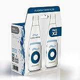 dropson Pack X2 Lata filtrante Filtro de Agua para Grifo, Membrana de microfiltración 100% Natural, 600 litros de Agua filtrada, monitorizable con Smartphone, Llena una Jarra de 1L en 1 min.