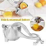 Gizayen Commercial Citrus Juicer Orange Manual Juice Squeezer Heavy Duty Fruit Presser For Pomegranate Lime Grapefruit Juice Stainless Steel Extractor Cast Iron Body - Bonus Shared Skimmer Spoon
