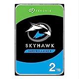 Seagate SkyHawk, 2 TB, Disco Duro Interno De Vigilancia, HDD 3.5' SATA 6 Gb/s, caché 64 MB, DVR, sistema de cámaras de seguridad NVR y 3 años de servicios Rescue (ST2000VX008)