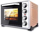 Mini horno eléctrico 40L con control de temperatura de precisión 100-250 ° C y 0-60 minutos Tiempo 1500W Aire caliente Tres capas Aire multifunción con horno de iluminación
