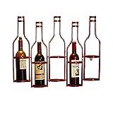 Estante de vino vertical alto para almacenamiento de vino, pequeño estante de vino para bar, bodega, cocina, estante de metal negro para colgar vinos – 1
