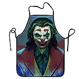 N\A Delantal Personalizado Joaquin Phoenix Joker Neck para cocinar Hornear jardinería