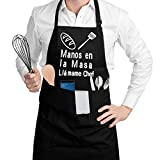 SSAWcasa Delantal de Cocina con 3 Bolsillos Ajustable Delantales Antiincrustante Regalos para Mujeres Hombres Delantal Cocinero Mandil Cocina para Restaurante, Jardinería.Cafetería, Barbacoa, Hornear
