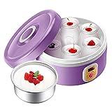TYUIO Automático de la máquina Fabricante de Yogur Griego 6 de Cristal tarros Personalizar a su Sabor y Grosor cafetera eléctrica 1L