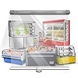 Estor Enrollable Cortina Enrollable para Escaparate Exterior Transparente, Cortinas Pet a Prueba de Polvo con Mango de PVC, para Gabinete del Congelador/Delicatessen (Size : 115×150cm)