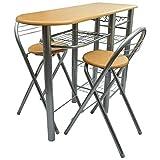 Cocina/Bar de desayuno/Set de mesa y sillas Madera
