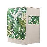VOSAREA Funda de protección para lavadora Carga Delantera Lavadora Secadora Impermeable (Diseño de hojas de palmera tropical)