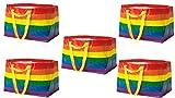 bricoloco.com IKEA STORSTOMMA 5x Bolsa Multiusos | Bolsa compra reusable plegable, para reciclaje, guardar ropa, juguetes de bebés y niños, bolsa de playa grande