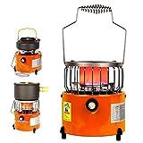 BMY Calefactor Calentador de Gas licuado de calefacción portátil, Estufa de Gas de Interior al Aire Libre multifunción, para Camping, Tienda de Pesca, Coche, Invierno