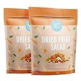 Marca Amazon - Happy Belly Cóctel de frutas deshidratadas, 2 x 500g