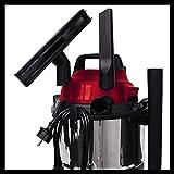Base Aspirador en seco y húmedo, 1250 W, 220-240 V, 50 Hz, 180 mbar, 78 dB (A), 12 l