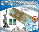 Juego de 20 bolsas y 20 ambientadores de papel para Kirby G1-G2-G3-G4-G5-G6...G10