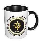 US Army Mos 98k Colección de señales Analista de identificación Taza de doble color resistente a altas temperaturas que no se decolora