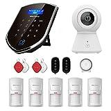Sistema de seguridad para el hogar wolf-guard 3G / GSM Wifi (wm3gr) con cámara de detección de movimiento, kit de vigilancia de alarma para el hogar DIY Smart (WCDMA)