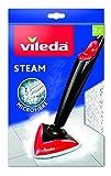 Vileda - Recambio de microfibras para mopa Vileda Steam, compatible con Steam 100 ºC, gran poder de desinfección sin químicos, 2 unidades, color blanco