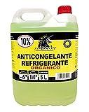 Unycox UNYCQ Anticongelante 10% Orgánico Gama Deluxe, Verde fosforito, 5 litros
