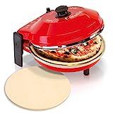 Spice - Juego de horno para pizza caliente de 400 grados, resistencia circular, 1200 W + segunda piedra refractaria de repuesto