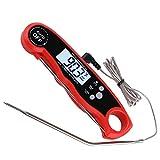 Termómetro de alarma plegable, termómetro electrónico para barbacoa con sonda de alambre, termómetro digital para alimentos de cocina