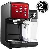 Breville VCF109X-01 PrimaLatte II VFC109X-01 - Cafetera de espresso (19 bares, para café en polvo o monodosis), color negro y rojo