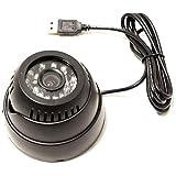 BeMatik - Cámara de vídeo-vigilancia con memoria interna y conexión USB y visión con infrarrojos