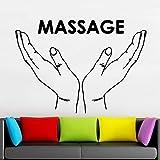 wZUN Masaje Etiqueta de la Pared habitación de los niños decoración del hogar Vinilo Tatuajes de Pared salón de Belleza Mujer baño Arte decoración 63X45 cm