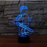 DFDLNL Cool Robot 3D Night Light Led 7 Cambio de Color USB Mesa de Escritorio Lampara Lámpara Interruptor 3D Luz Visual para Regalo de Juguete para niños