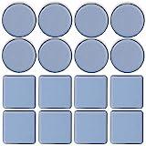 TheStriven 16 piezas Deslizadores de Muebles Almohadillas para Mover Muebles Protectores de Piso die Deslizadores Patín Deslizador para Muebles Deslizadores de Teflón para Silla, Mesa, Sofá (A)