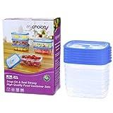 Recipiente para almacenar alimentos paquete de 10 con tapa hermética MyChoice Snap-On 750ml - A prueba de fugas y apto para su uso en el microondas, congelador y lavavajillas