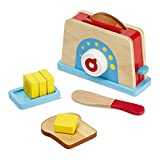 Melissa & Doug Bread & Butter Toaster Set, Multicolor (19344)