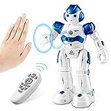 SUNACE Robot de Juguete - RC Robot Programable Juguete Educativo Recargable Robots Juguete de Control Remoto Robot Inteligente Multifuncional con Baile Cantante Juguete de Regalo para Niños (Azul)