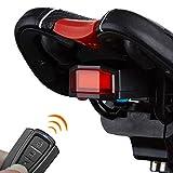 Inteligente de la luz trasera de la bicicleta CCI A6 de carga USB COB Fuente de luz inteligente bici de aviso de alarma de cola de luz con control remoto Encendido / apagado automático sensor de freno