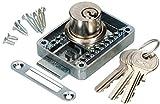 KOTARBAU® - Cerradura para muebles regulable 15-40 mm izquierda y derecha, cerradura atornillable con 3 llaves, cerradura de cilindro para muebles, cerradura para armario, cerradura para cajones