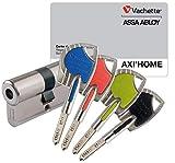 Axi Home - Cilindro de cierre para puerta (piel de vacuno, cerradura de seguridad, 30 x 30 cm)