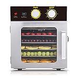 MICHEN Máquina de Frutas secas de Acero Inoxidable de 6 Capas Secadora de Alimentos para el hogar Fruta y verdura Carne para Mascotas Secadora para deshidratación de Alimentos,AU