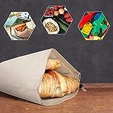 Kupton Bolsas de Comida para Fruta,Juguetes y Libros-Bolsas de Comestibles Hechas de Algodón Orgánico para una Compra sin Residuos-Ligeras,con Cordón,Puntada Doble y Etiqueta de Tara-10Bolsa