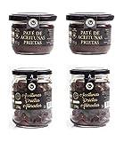 Aceitunas Prietas negras deshidratadas Katamala española 100% + Pate de Aceitunas Prietas Tapenade Olivada (PACK 4)