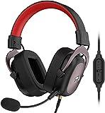 Redragon H510 Zeus - Auriculares Headset para Gaming - Audio de Alta Definición + Potentes Bajos - Cascos con Micrófono para PC, Móvil, PS4 - Sonido 7.1 + Software descargable