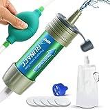 RUNACC Filtro de Agua con Bomba de Bola para Beber rápidamente y Voltear, diseño Integrado, Mini purificador de Agua con Alta Capacidad, preparación de Emergencia