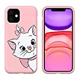 Pnakqil Funda Apple iPhone 11 Rosa Silicona Carcasa Ultrafina y Ligero Diseño Soft Gel TPU Suave Piel Case Antigolpes Goma Bumper Protectora Back Cover para Apple iPhone 11, Gato 01