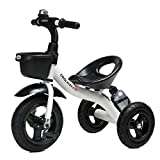 ZHNA Bicicleta de Paseo con Triciclo for niños, Triciclo, Triciclo, niños de Moda, Bicicleta con Soporte for hervidor, Coche de Juguete for excursiones al Aire Libre de 2-5 años (Color : White)