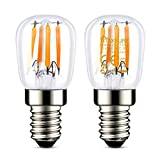 Maxsure, Bombilla LED E14, 2.5W, Reemplazo por la lámpara halógena tradicional de 25W, Bombilla Nevera, Blanco Cálido, 2700 K, 260 LM, Impermeable, para Nevera, Campana Extractora, Lámpara, 2 unidades