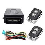 MASO - Sistema de alarma universal para coche, sistema de seguridad de entrada sin llave con 2 llaves