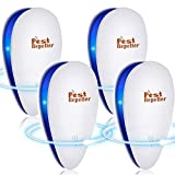 Repelente Ultrasónico de Plagas, BESTZY 2020 Electrónico Ahuyentador Alta Potencia,Control de Plagas para Interiores para Cucarachas, Roedores, Moscas, Hormigas
